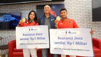 Tiara Andini dan Peraih Emas Asian Games 2018 Dapat Asuransi Rp 1 Miliar