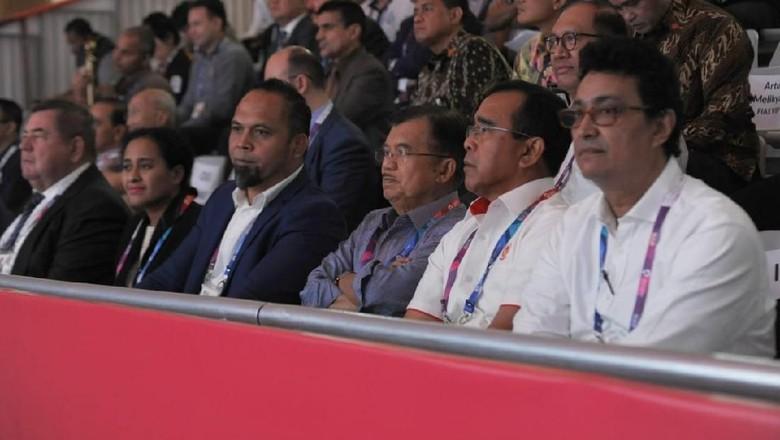 JK Tonton Pertandingan Sambo Asian Games di JCC