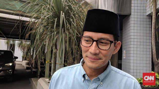 Eks Wagub DKI Sandiaga Uno, di Jakarta, Jumat (31/8).