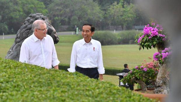Scott Morrison dan Jokowi /