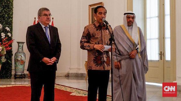 Presiden Joko Widodo mengungkapkan keinginan Indonesia menjadi tuan rumah Olimpiade 2032 di hadapan Presiden IOC Thomad Bach.