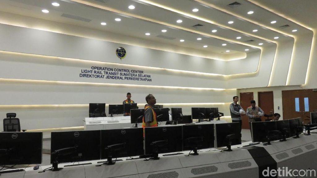 Ini Lho Ruang Pusat Pengendali LRT Palembang