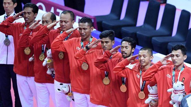 Sepak takraw menambah torehan medali emas Indonesia di Asian Games 2018.