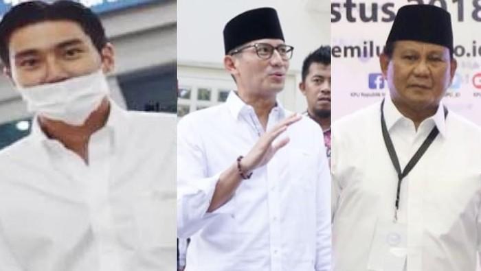 Sandiaga merasa gayanya dan Prabowo mirip Choi Siwon (Foto: dok. Instagram Sandiaga Uno)