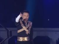 Aksi Jack Ma di selebrasi Alibaba pada 2017 lalu.