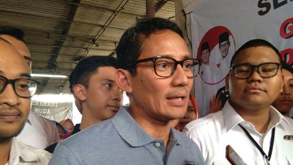 Nilai Rupiah Anjlok, Sandiaga: Kita Doakan Pak Jokowi