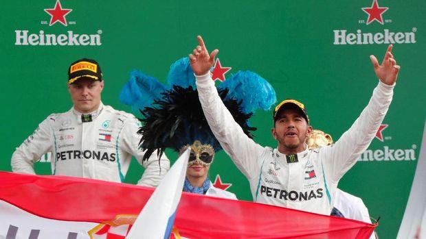 Lewis Hamilton juara GP Italia 2018.