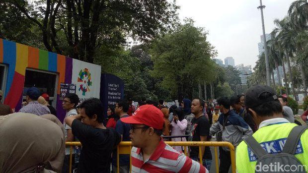 Hari Terakhir Asian Games 2018, Ribuan Masyarakat Tumpah Ruah di GBK