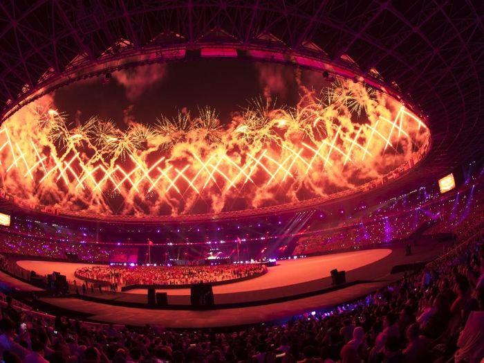 Penutupan Asian Games 2018. (Foto: ANTARA FOTO/INASGOC/Rosa Panggabean)
