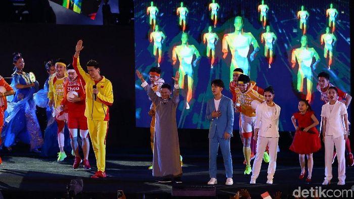 Jack Ma di penutupan Asian Games 2018. (Foto: Grandyos Zafna/detikcom)