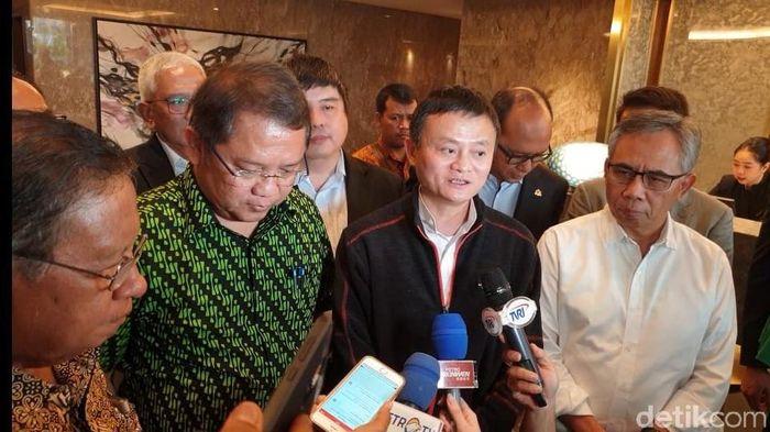 Foto: Jack Ma Bertemu Menterinya Jokowi. detikINET/Adi Fida Rahman