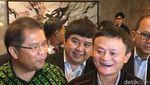 Senyum Lebar Jack Ma Usai Kongkow Bareng Menteri Jokowi