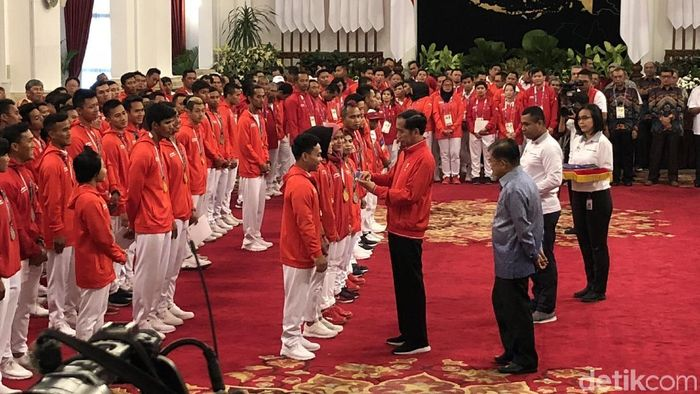 Jokowi beri bonus ke atlet Asian Games (Ray Jordan/detikSport)