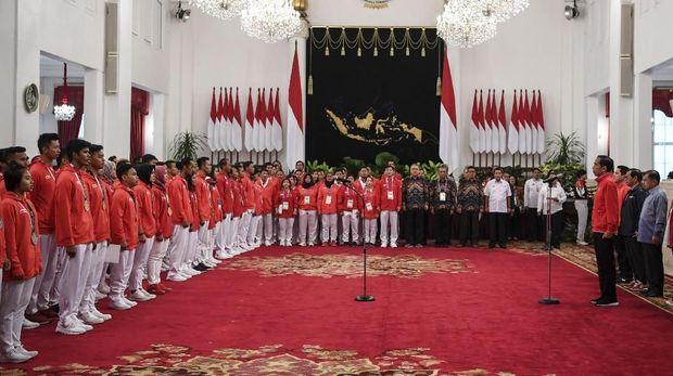 Tim Merah Putih melebihi target yang diberikan pemerintah dengan menempati peringkat keempat klasemen akhir medali Asian Games 2018.(CNN Indonesia/Andry Novelino)