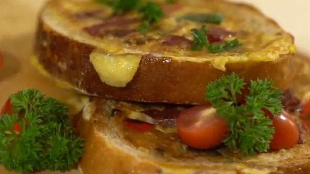 Resep Sarapan: Roti Telur Smoked Beef