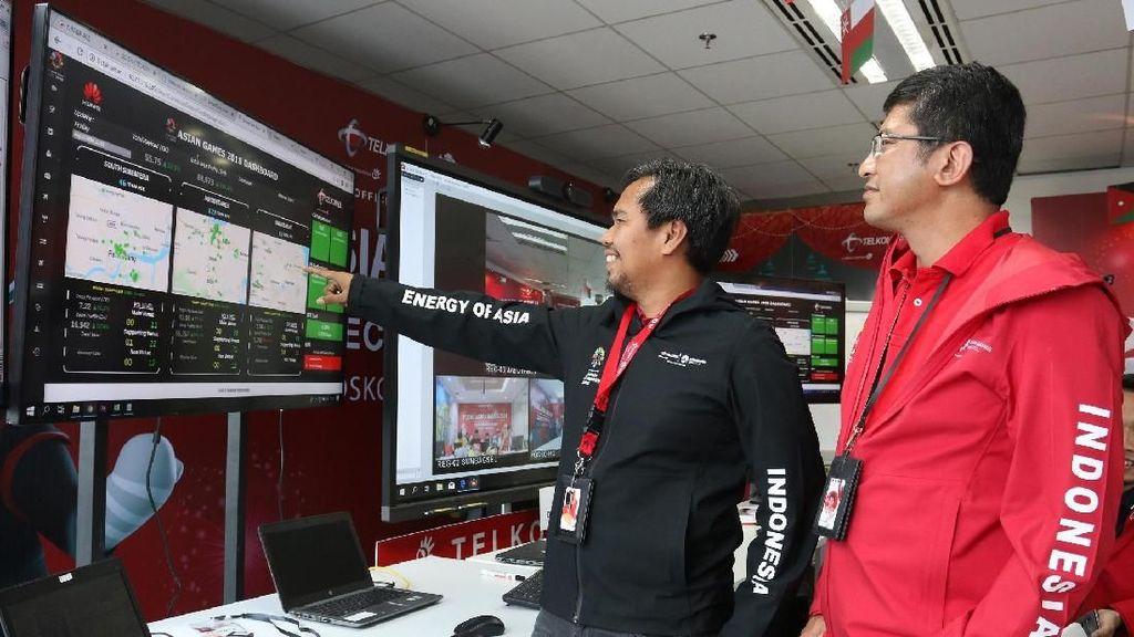 Telkomsel Jamin Internetan di Penutupan Asian Games Lancar