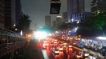Jalan Sudirman Macet Jelang Penutupan Asian Games