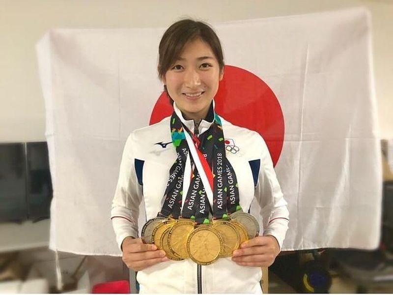 Dalam gelaran Asian Games 2018 yang akan berakhir hari ini, Rikako Ikee disebut sebagai peraih medali emas terbanyak lewat cabor renang. Ia berhasil meraih 6 medali emas dan 2 perak. Wow! (@ikee.rikako/Instagram)