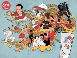 Asian Games 2018 Usai, Intip 3 Ilustrasi Keren Jokowi dan Para Atlet