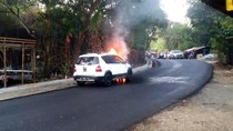 Minibus Terbakar di Sukabumi, Penumpang Selamat