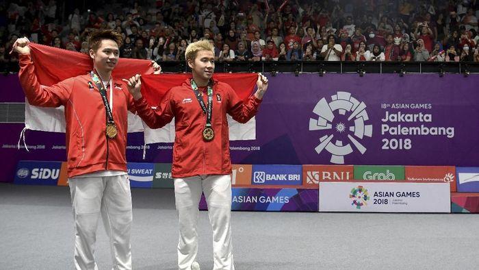 Marcus Gideon bertekad tampil di Olimpiade 2020 (ANTARA FOTO/INASGOC/Puspa Perwitasari)