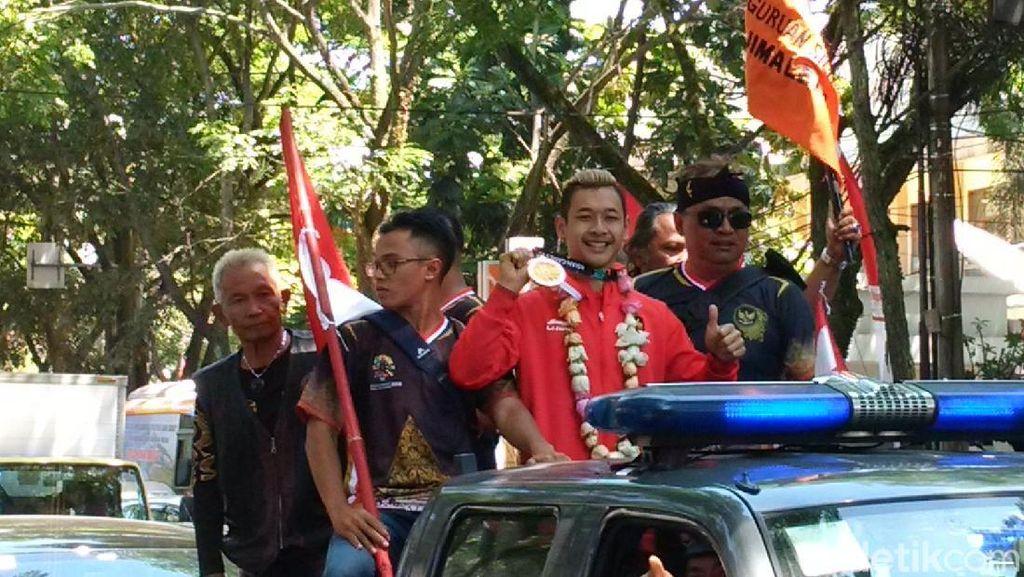 Tiba di Bandung, Hanifan Disambut Pengurus IPSI Jabar