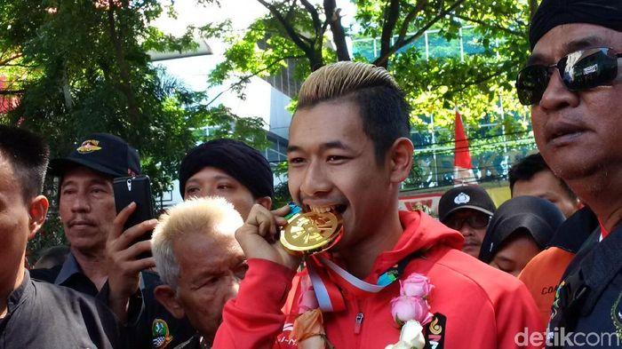 Hanifan Yudani Kusumah berharap pencak silat dipertandingkan di Olimpiade (Foto: Mochamad Solehudin)