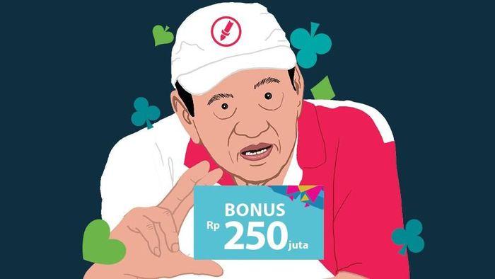 Bambang Hartono dapat bonus Rp 250 juta usai Asian Games 2018 (Infografis Detiksport)