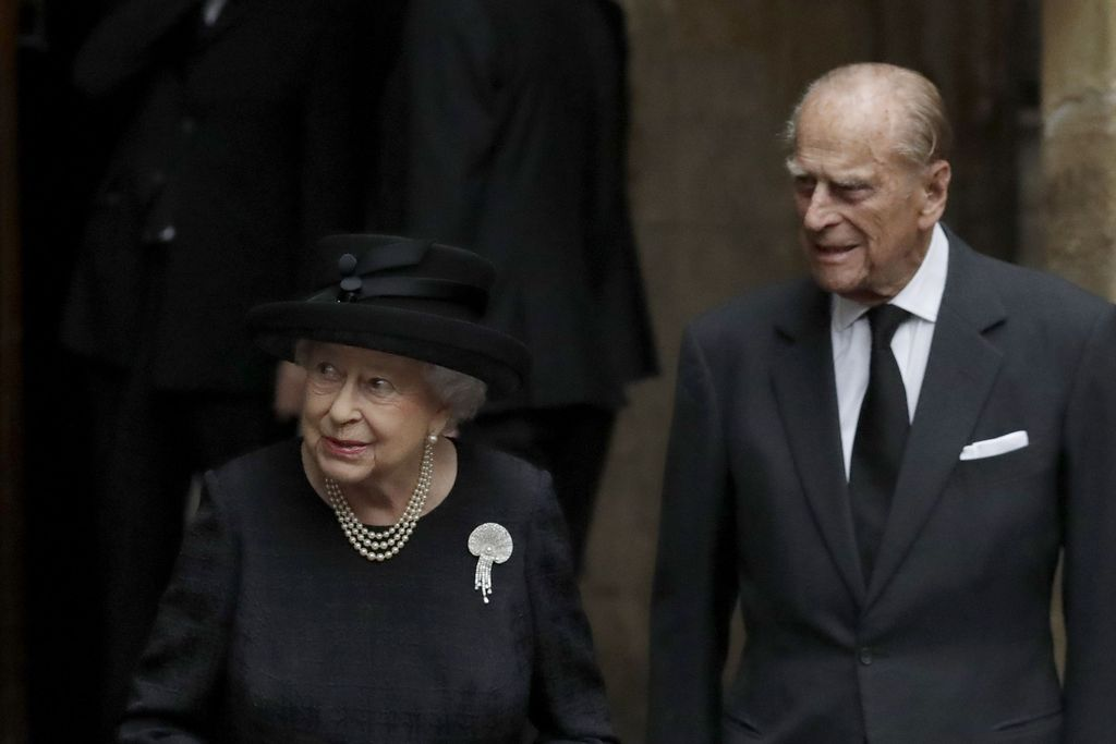 WINDSOR, UNITED KINGDOM - MAY 19: Queen Elizabeth II and  Prince Philip, Duke of Edinburgh attend the wedding of Prince Harry to Meghan Markle  at St George's Chapel at Windsor Castle on May 19, 2018 in Windsor, England. (Photo by Jonathan Brady - WPA Pool/Getty Images)