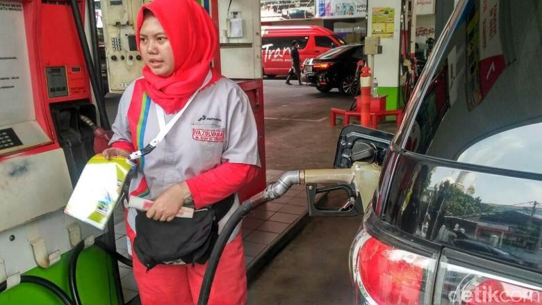 SPBU yang menjual biodiesel Foto: Achmad Dwi Afriyadi