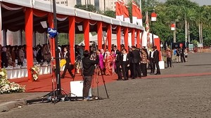 Iriana Jokowi Hadiri HUT ke-70 Polwan di Monas
