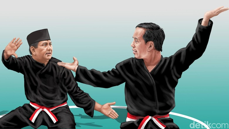 Survei Litbang Kompas: Jokowi-Amin 52,6%, Prabowo-Sandi 32,7%