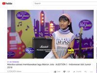 Bawakan lagu Marion Jola, Marsha mencuri perhatian netizen