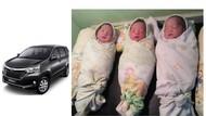 Viral! Lahir di Mobil, Bayi Kembar Tiga Diberi Nama Avanza