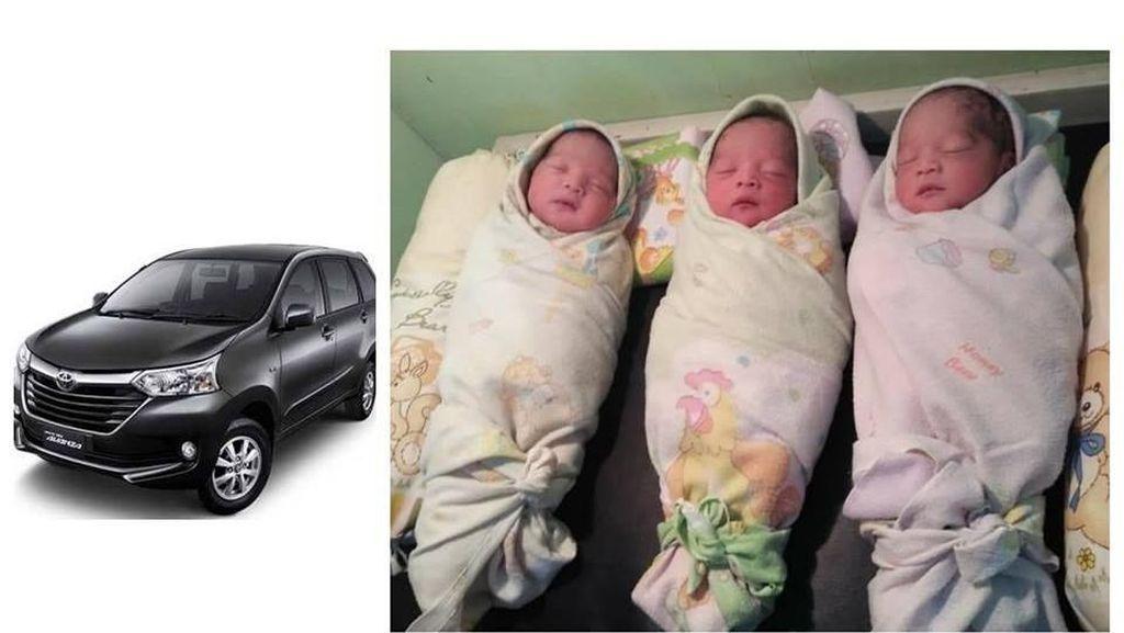 Bayi Kembar Tiga Diberi Nama Avanza, Ini Kata Toyota