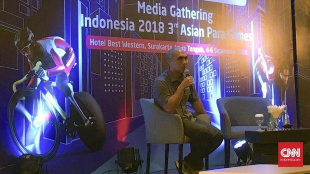 Acara temu media Asian Para Games 2018 di Solo. (