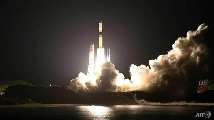 The space-elevator test equipment will be launched on a Japanese H-2B rocket next week. (Photo: AFP/Jiji Press)