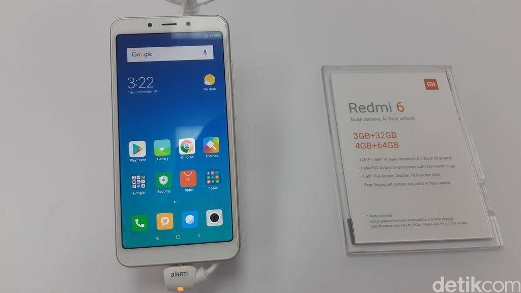 Redmi 6 hadir dengan layar berukuran 5,45 inci dengan resolusi 1440×720 pixel dan rasio 18:9. (Foto: detikINET/Virgina Maulita Putri)
