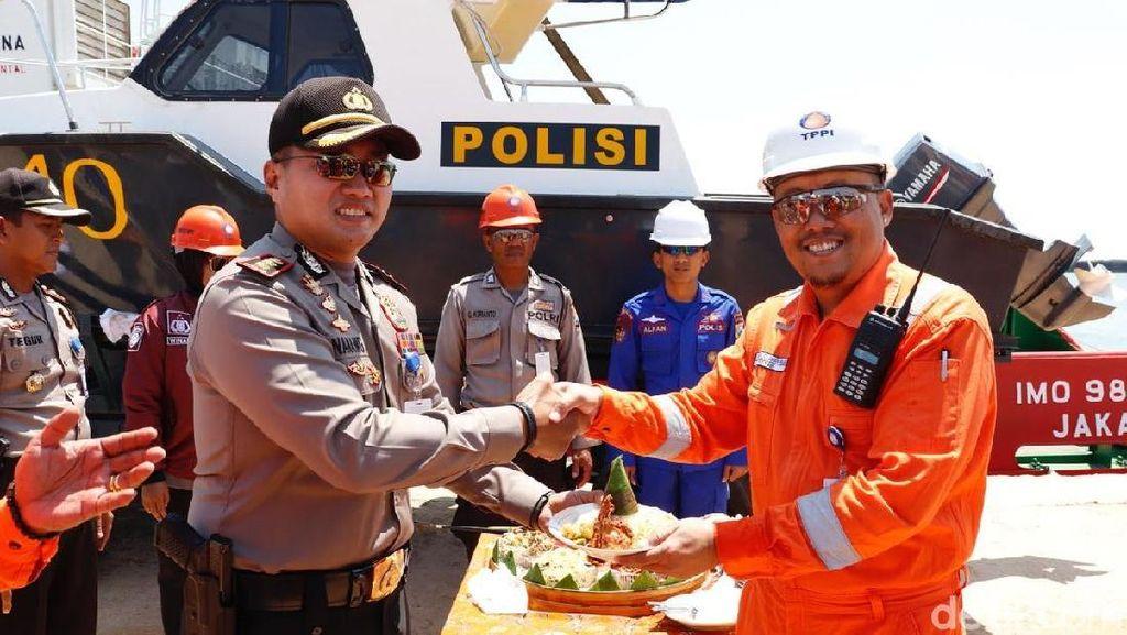 Amankan Perairan Tuban, Polisi Luncurkan Kapal Cepat