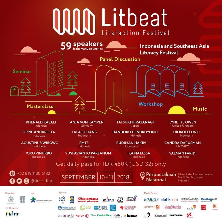Litbeat Festival Hadirkan 59 Pembicara dari Indonesia dan Mancanegara