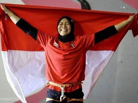 Aries Susanti, atlet panjat tebing peraih medali emas di Asian Games 2018