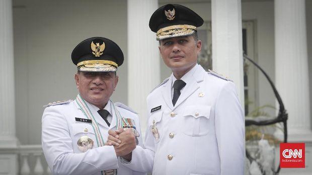 Pasangan Gubernur dan Wagub Sumatera Utara, Edy Rahmayadi-Musa Rajekshah.