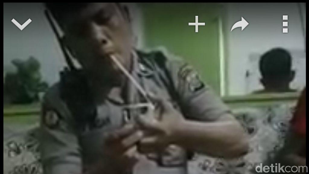 Viral! Polisi di Medan Nyabu di Rumah Bandar