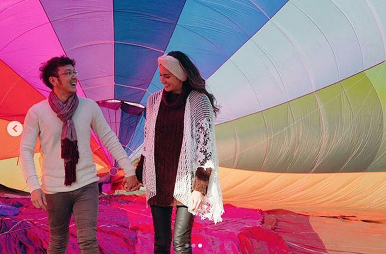 Dimas Anggara dan Nadine Chandrawinata saat ini sedang berada di New Zealand.Dok. Instagram/nadinelist