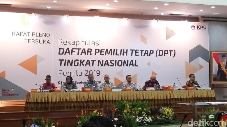 KPU Tetapkan DPT Pemilu 2019 Sebanyak 185 Juta Pemilih