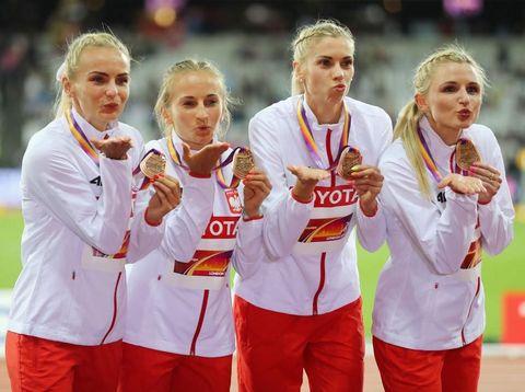 Para atlet Polandia dengan kecantikan alami.