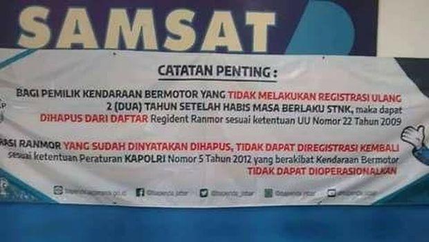 Pengumuman di Samsat