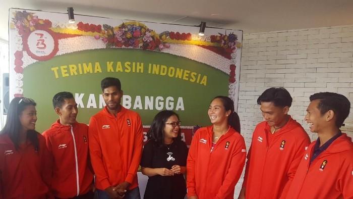 Peraih emas Asian Games di kantor Go-Jek. Foto: Muhamad Imron Rosyadi/detikINET
