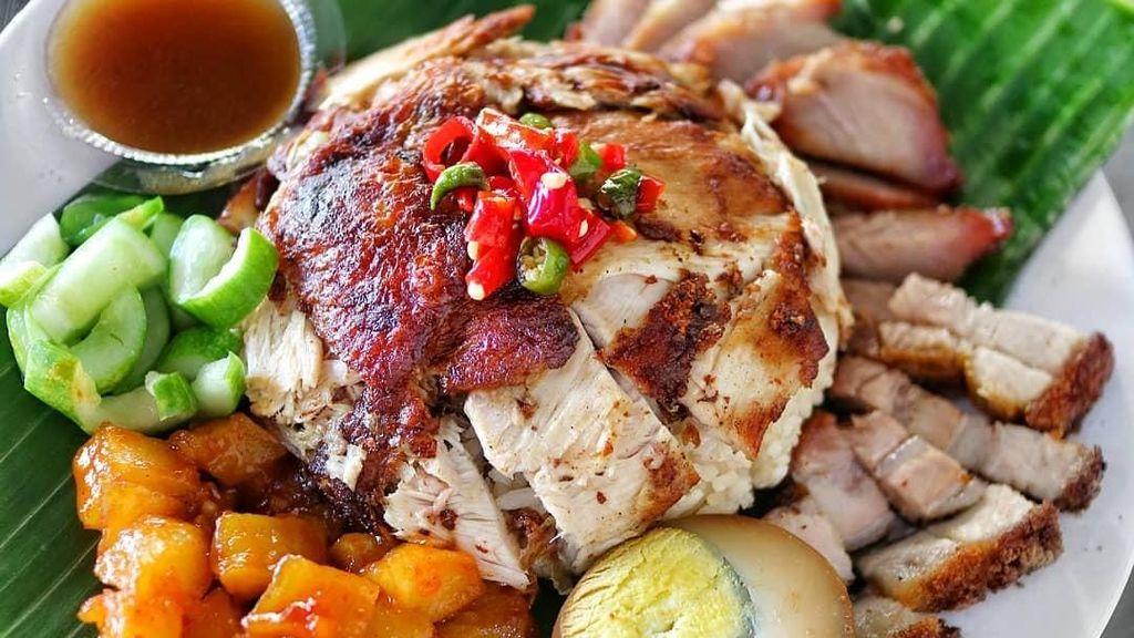 Makan Siang Mantap! Nasi Hainan Lembut Plus Ayam yang Gurih