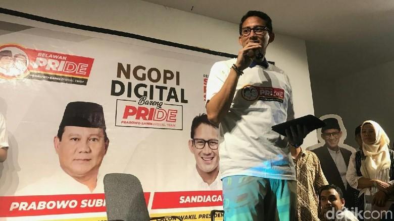 Erick Thohir Ketua Timses Jokowi, Sandiaga: Pertemanan Kita Abadi